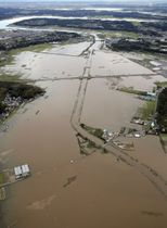 10月の豪雨では印旛沼に流れ込む鹿島川の流域が浸水した=千葉県佐倉市