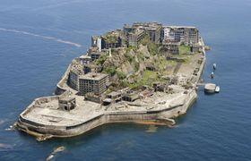 世界文化遺産の端島炭坑(通称・軍艦島)=長崎市