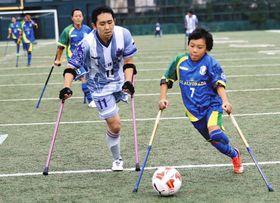 過去の選手権大会の様子(日本アンプティサッカー協会提供)