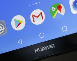 ファーウェイのスマートフォンに表示されるGメールなどのアイコン