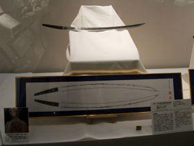 初公開されている本木昌造所有の名刀=長崎市、長崎歴史文化博物館