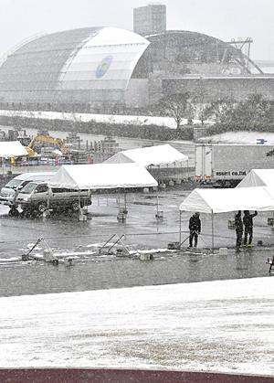 寒波影響で5年ぶり開催「中止」 いわきサンシャインマラソン