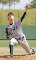 日本製紙石巻-JR東日本東北 相手打線を3点に抑え完投したJR東日本東北の西村