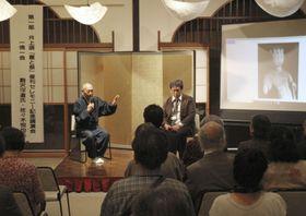 井上靖の小説「星と祭」の復刊記念イベント=19日午後、滋賀県長浜市