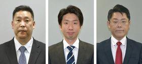 (左から)立花孝志氏、永藤英機氏、野村友昭氏