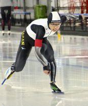 女子500メートルで1位の小平奈緒=カルガリー(共同)