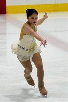 【ジュニア女子フリー】表現力豊かに演技した渡辺(青森山田高)=テクノルアイスパーク八戸