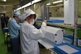 「リブートエア」のデモ機を製造するアイシン電子工業=宇都宮市