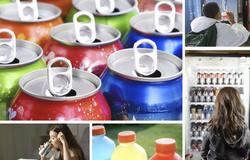 米国で飲まれているさまざまな清涼飲料(米コネティカット大の研究チーム提供)