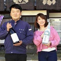 新しい日本酒を企画、製造する岩田さん(左)と氏家さん