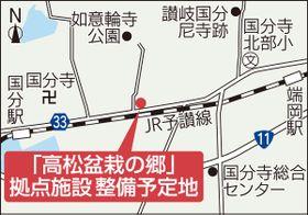 「高松盆栽の郷」拠点施設整備予定地