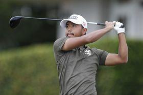 第3ラウンドに出場した小平智=5日、米ハワイ州カパルア(ブライアン・スパーロック、USAトゥデイスポーツ、ロイター=共同)