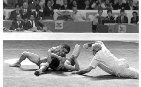 1968年メキシコ五輪でレスリングのフリースタイル・フライ級に出場した中田茂男氏