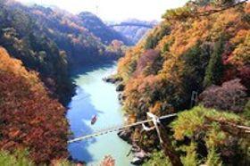 色づく天竜峡、楽しみさまざま 展望台や川下り