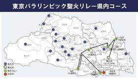 東京パラリンピックの聖火リレー県内コース