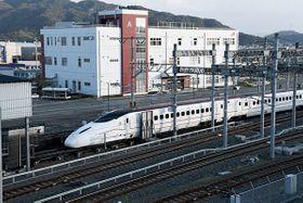 九州新幹線の車両基地であるJR九州の熊本総合車両所=熊本市南区
