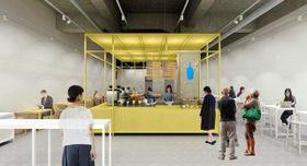 兵庫初出店となるブルーボトルコーヒー神戸カフェの店内イメージ図