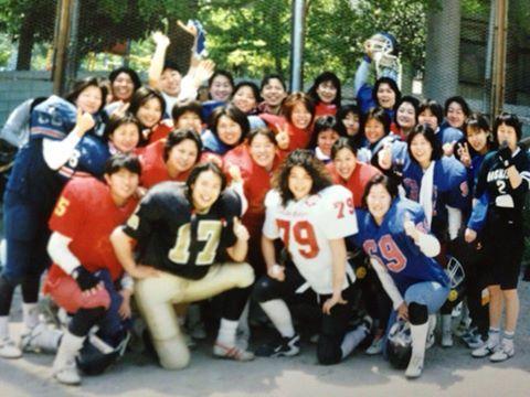 大阪の女子チーム「ワイルドキャッツ」の練習に参加した時のベティさん(79)