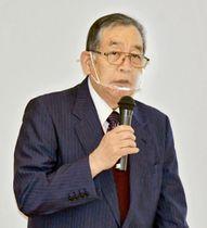 大熊町長時代の困難や苦労、復興支援への感謝を語る渡辺氏