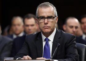FBI副長官当時のマケイブ氏=2017年6月(AP=共同)