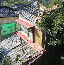 田辺市の補助制度を使った空き家解体の第1号(和歌山県田辺市新庄町で)