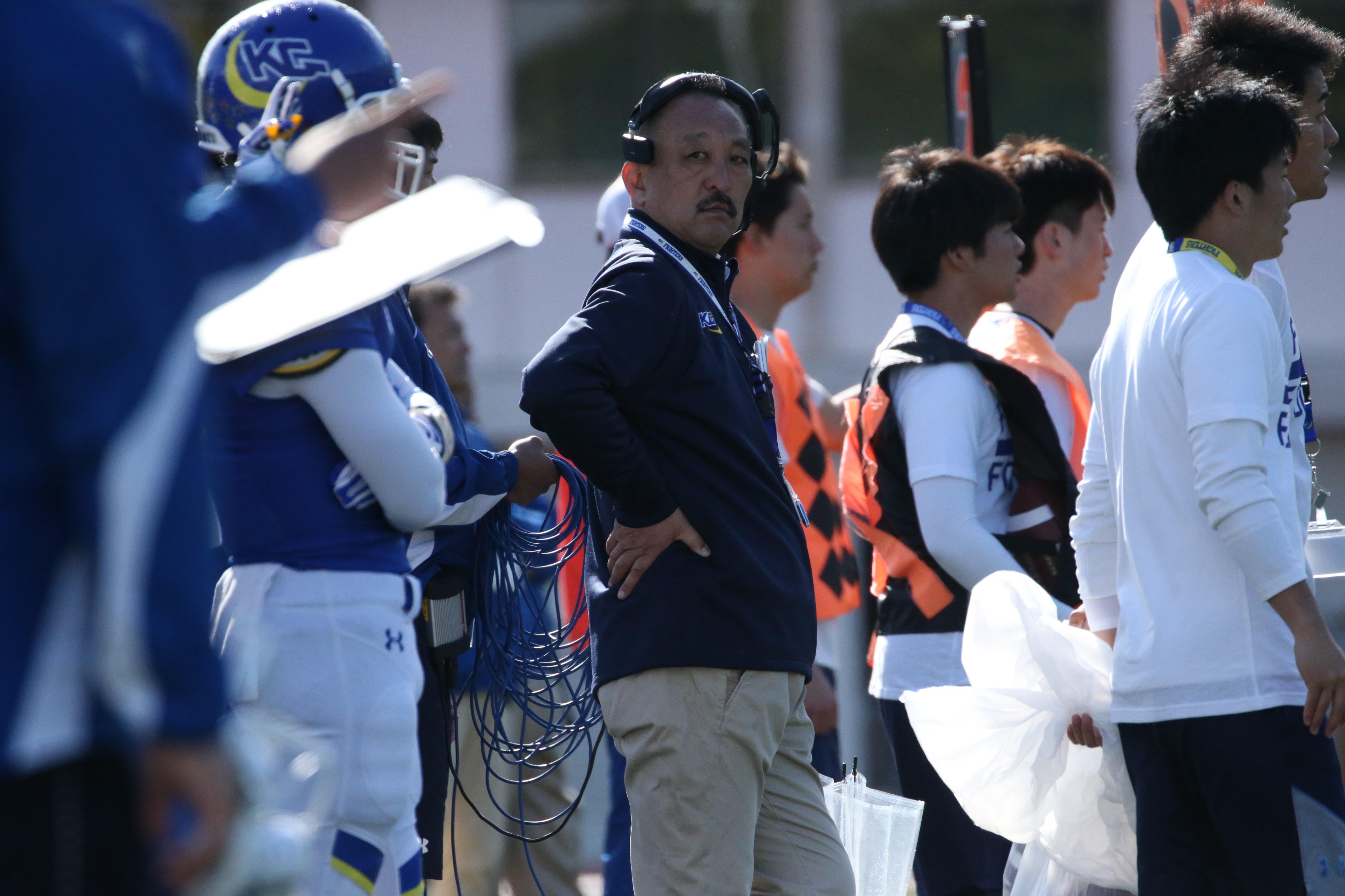 今シーズン限りで退任する関学大の鳥内秀晃監督=撮影:武部真