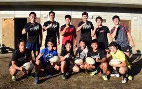 W杯の札幌ドーム戦でボールパーソンを務める札山の手高校のラグビー部員