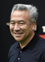 米ワーナー・ブラザースのケビン・ツジハラ会長兼CEO=2017年9月、ロサンゼルス(AP=共同)