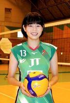 U20世界選手権で日本の優勝に貢献したJTの西川有喜=西宮市、JT体育館
