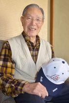 高知県出身で初の野球殿堂入りを果たした故前田祐吉氏(2015年3月、神奈川県川崎市の自宅)