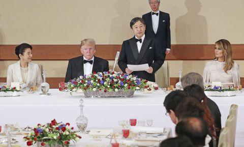 米大統領夫妻を迎え宮中晩さん会