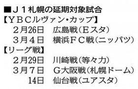 J1コンサ 5試合延期