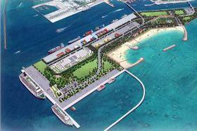 石垣港のクルーズ船ターミナルの完成図(石垣市提供)