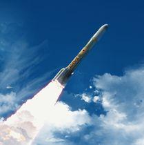 日本の次期主力ロケット「H3」のイメージ(JAXA提供)