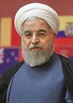 イランのロウハニ大統領(AP=共同)