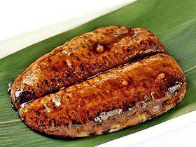 お菓子の蔵太郎庵のウナギのかば焼きに似せた「うなぎ饅頭」