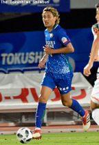 J1神戸への移籍が発表されたDF大﨑玲央=6月16日、鳴門ポカリスエットスタジアム