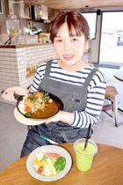 「季節の深谷野菜カレー」などが味わえるカフェ=深谷市小前田の道の駅はなぞの内の「FARMY CAFE~Curry stand~」