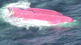 納沙布沖で転覆船見つかる