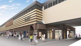 洛西口駅高架下の整備後のイメージ図(阪急電鉄提供)
