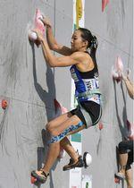 複合女子で優勝した野口啓代のスピード=倉吉体育文化会館