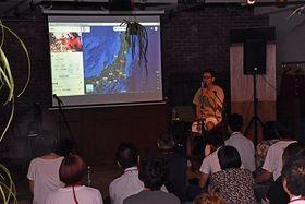 まちなかリノベCAMPで、自らの起業経験について語る宮本さん