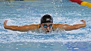女子200バタフライ・菊田が大会新で栄冠 福島県高校新人水泳