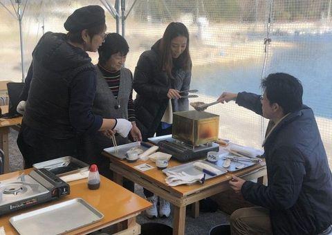 殻付きカキ提供の小屋が登場 岡山・邑久の玉津食堂