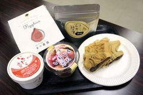 巻地区の農産物を素材に生み出された5種類の新商品