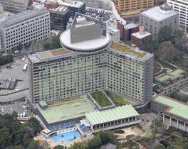 ホテルニューオータニ外観(空撮)=2008年3月21日撮影、東京都千代田区