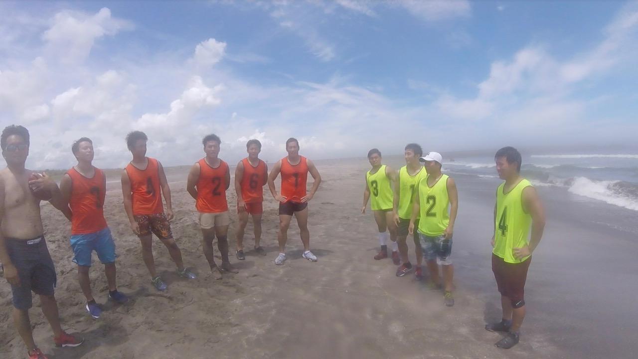 昨年、千葉の九十九里浜で開催されたキャンプの一場面