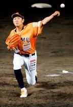 【愛媛MP―徳島】1失点で完投した愛媛MP・正田=坊っちゃんスタジアム