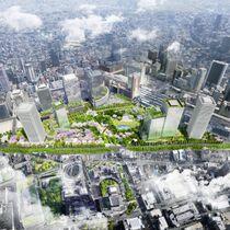 「うめきた」2期開発後のJR大阪駅北側のイメージ