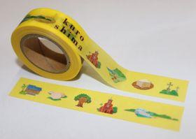 黒島の名所や名物が描かれたマスキングテープ